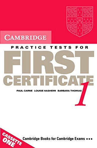 9780521498982: Cambridge Practice Tests for First Certificate 1 Audio Cassette Set (2 Cassettes) (FCE Practice Tests)