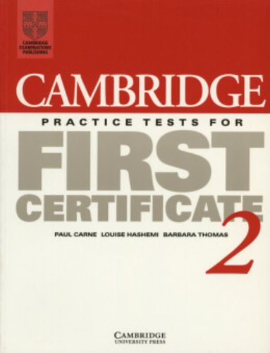 9780521498999: Cambridge Practice Tests for First Certificate 2 Student's book (FCE Practice Tests)