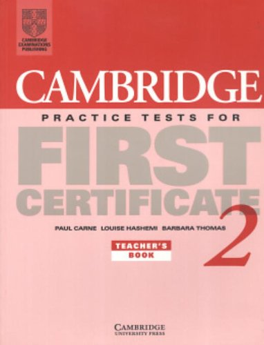 9780521499019: Cambridge Practice Tests for First Certificate 2 Teacher's book (FCE Practice Tests) (Bk.2)