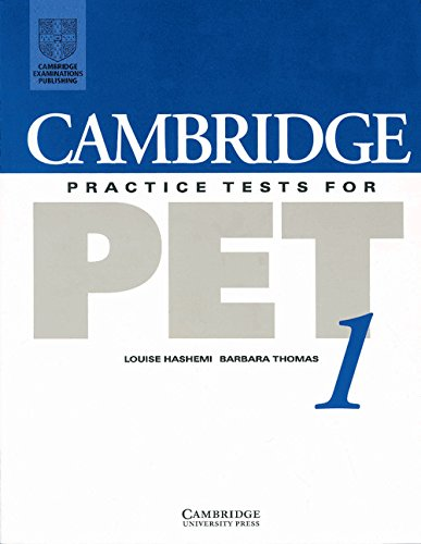 9780521499385: Cambridge Practice Tests for PET 1 Student's book