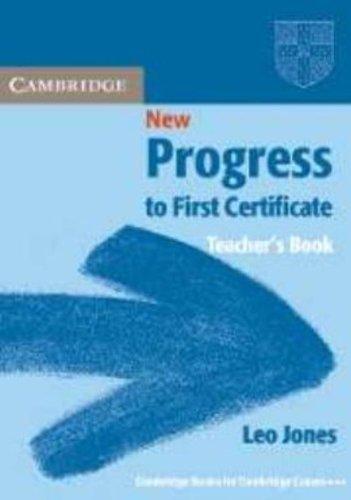 9780521499866: New Progress to First Certificate Teacher's book