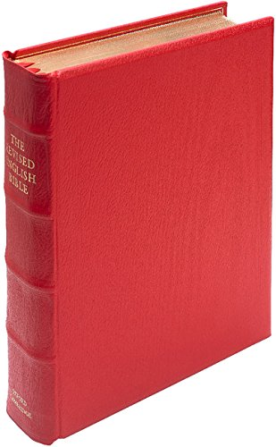 REB Lectern Bible, Red Imitation Leather Over