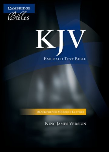 9780521507813: KJV Emerald Text Edition Black French Morocco Leather