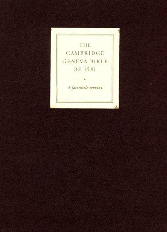 9780521507998: Geneva Bible of 1591 Cambridge Edition Brown calfskin gilt edges presentation box: Geneva Edition Facsimile