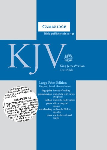 9780521508803: King James Version Large Print Text Bible (BurgundyFrench Morocco Leather) [LARGE PRINT]