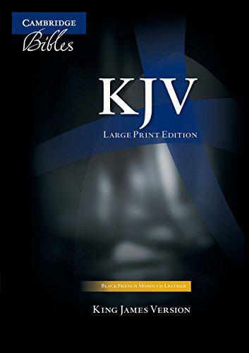 9780521508810: KJV Large Print Text Bible, Black French Morocco Leather KJ653:T: Authorized King James Version