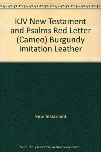 9780521509046: KJV New Testament and Psalms Red Letter (Cameo) Burgundy Imitation Leather
