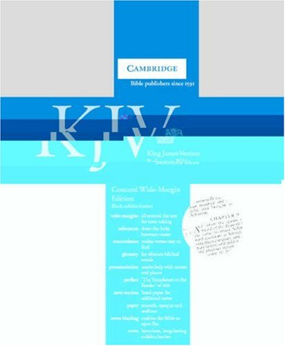 KJV Concord Wide Margin Reference Edition with Glossary and Concordance Black calfskin KWM267 (0521509181) by Bible