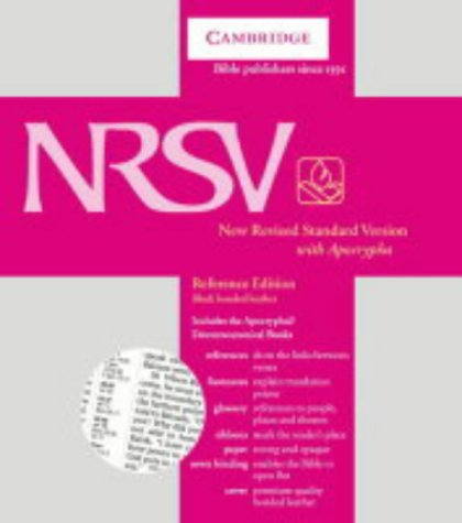 9780521509336: NRSV Reference Edition with Apocrypha Black bonded leather NRA22: New Revised Standard Version Reference Edition with Apocryphal/Deuterocanonical Books (Bible Nrsv)
