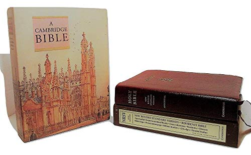 NRSV Reference Edition with Apocrypha Burgundy bonded leather NRA22 (9780521509343) by [???]