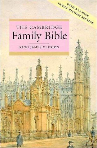 9780521509381: KJV Cambridge Family Bible Black goatskin leather over boards and extensive family records KFAM