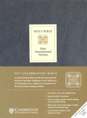 9780521513081: NIV Celebration Edition Black Goatskin leather, leather lined NIV357: NIV Celebration Edition NIV357 (Bible Niv 357)