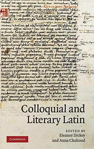 9780521513951: Colloquial and Literary Latin