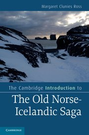 9780521514019: The Cambridge Introduction to the Old Norse-Icelandic Saga