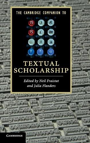 9780521514101: The Cambridge Companion to Textual Scholarship Hardback (Cambridge Companions to Literature)