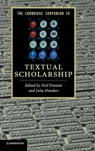 The Cambridge Companion to Textual Scholarship (Cambridge