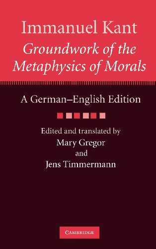 9780521514576: Immanuel Kant: Groundwork of the Metaphysics of Morals: A German-English edition (The Cambridge Kant German-English Edition)