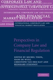 9780521515702: Perspectives in Company Law and Financial Regulation (International Corporate Law and Financial Market Regulation)