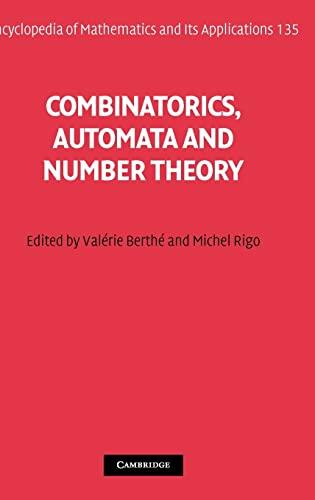 9780521515979: Combinatorics, Automata and Number Theory (Encyclopedia of Mathematics and its Applications)