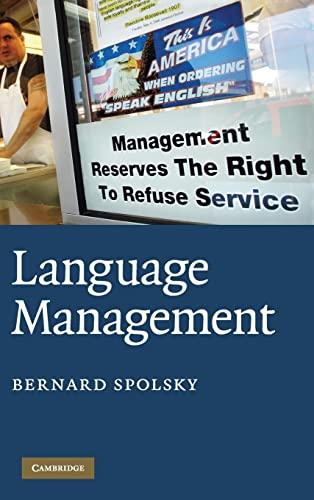 9780521516099: Language Management