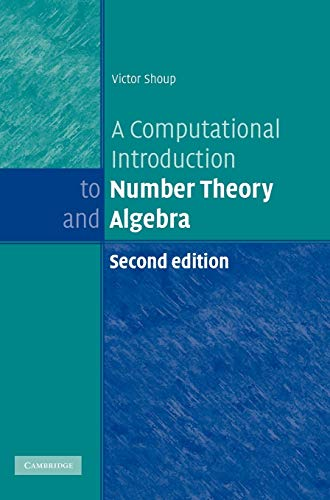 9780521516440: A Computational Introduction to Number Theory and Algebra (World Trade Organization)