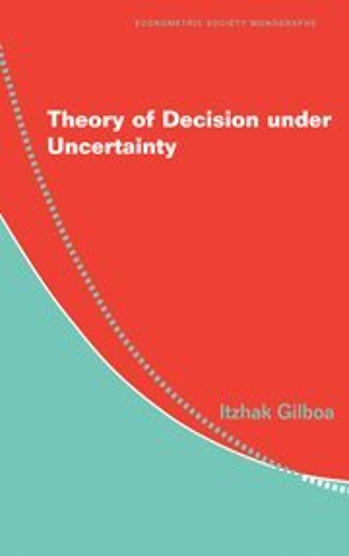 9780521517324: Theory of Decision under Uncertainty Hardback (Econometric Society Monographs)