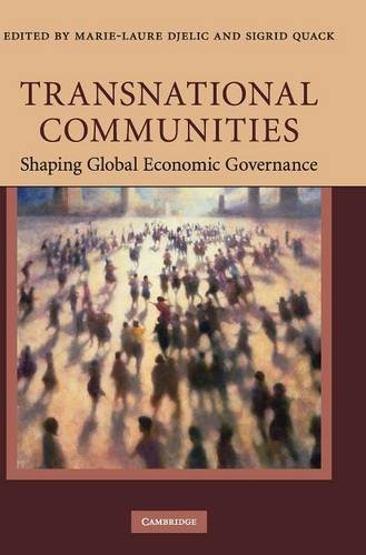 9780521518789: Transnational Communities: Shaping Global Economic Governance