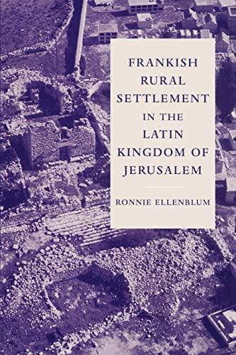 9780521521871: Frankish Rural Settlement in the Latin Kingdom of Jerusalem (Cambridge OCR Advanced Sciences)