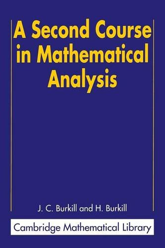 9780521523431: A Second Course in Mathematical Analysis Paperback (Cambridge Mathematical Library)