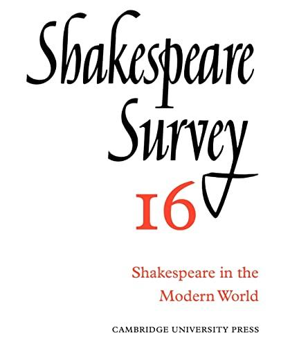 9780521523523: Shakespeare Survey
