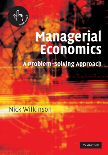 9780521526258: Managerial Economics: A Problem-Solving Approach