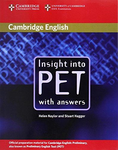 9780521527552: Insight into Pet. With answers. Per le Scuole superiori