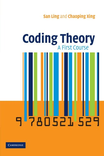9780521529235: Coding Theory: A First Course