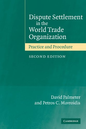 9780521530033: Dispute Settlement in the World Trade Organization: Practice and Procedure