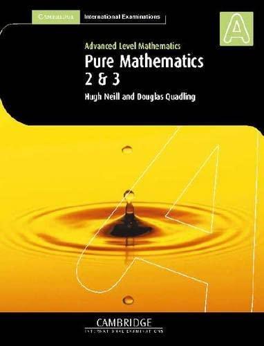 9780521530125: Pure Mathematics 2 and 3 (International) (Cambridge International Examinations)