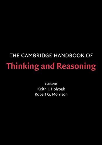 9780521531016: The Cambridge Handbook of Thinking and Reasoning (Cambridge Handbooks in Psychology)