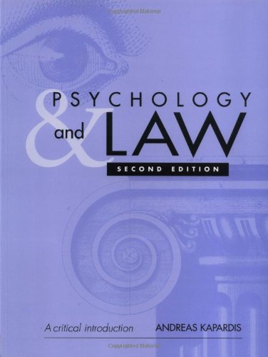 9780521531610: Psychology and Law: A Critical Introduction