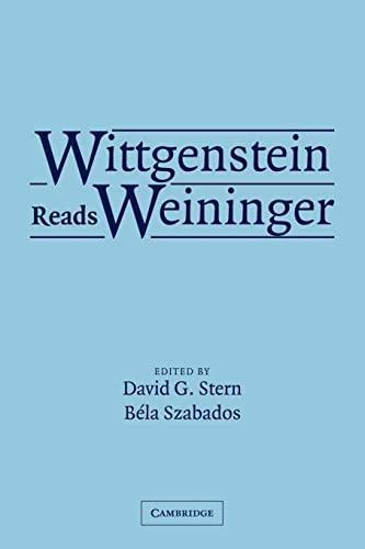 9780521532600: Wittgenstein Reads Weininger Paperback