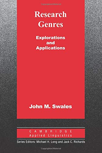 9780521533348: Research Genres: Explorations and Applications