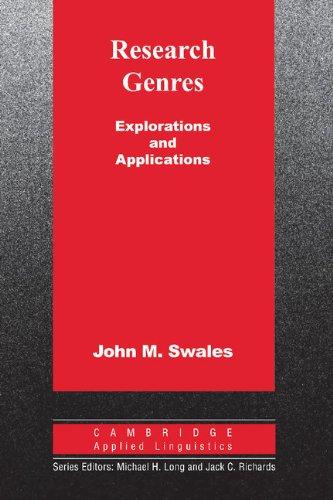 9780521533348: Research Genres: Explorations and Applications (Cambridge Applied Linguistics)