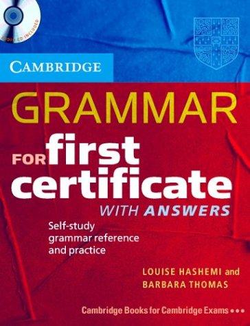 9780521533362: Cambridge grammar for first certificate. Con CD Audio. Per le Scuole superiori: Self-study Grammar Reference and Practice