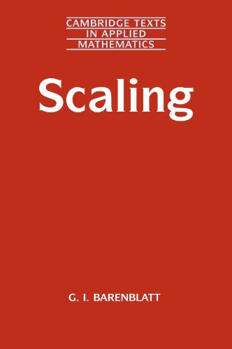 9780521533942: Scaling (Cambridge Texts in Applied Mathematics)