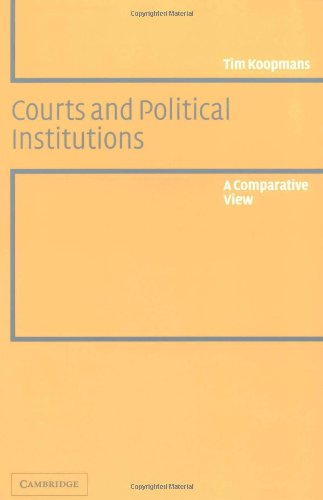 9780521533997: Courts and Political Institutions: A Comparative View