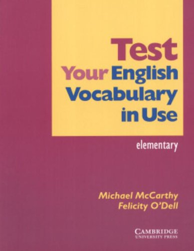 9780521534062: Test Your English Vocabulary in Use: Elementary