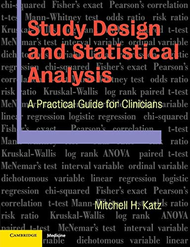 9780521534079: Study Design and Statistical Analysis: A Practical Guide for Clinicians