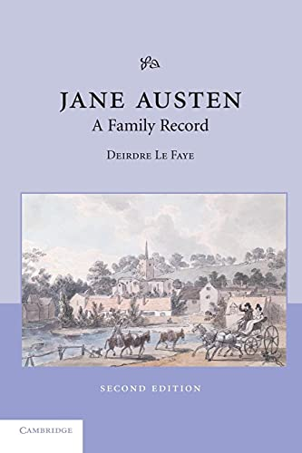 9780521534178: Jane Austen: A Family Record