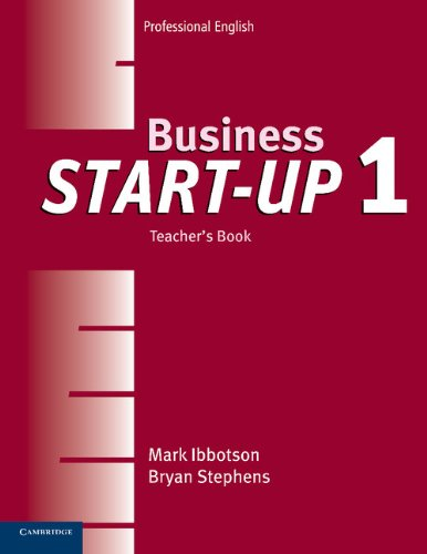 9780521534666: Business Start-Up 1 Teacher's Book