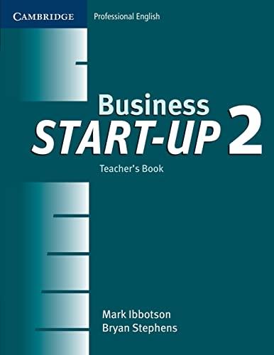 9780521534703: Business Start-up 2 Teacher's Book (Cambridge Professional English)