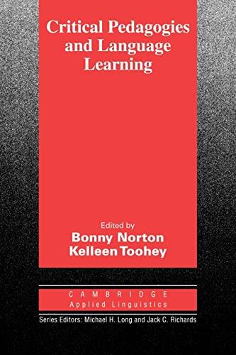 9780521535229: Critical Pedagogies and Language Learning (Cambridge Applied Linguistics)