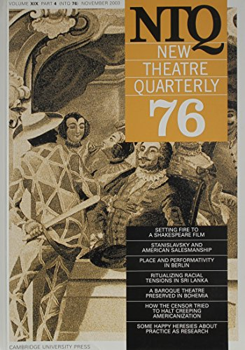 9780521535915: New Theatre Quarterly 76: Volume 19, Part 4 (v. 19)